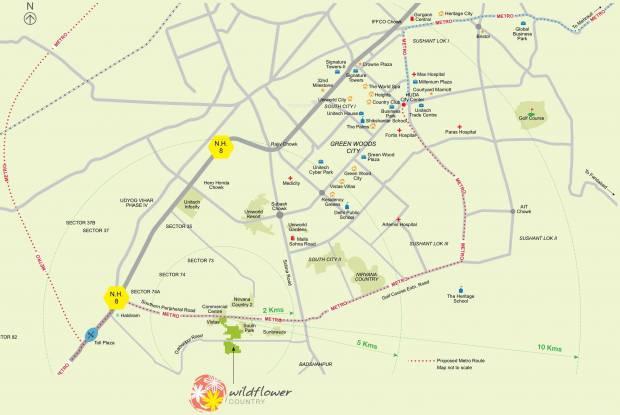 Unitech Anthea Floors Location Plan