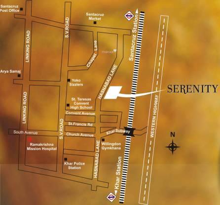 Dheeraj Serenity Location Plan