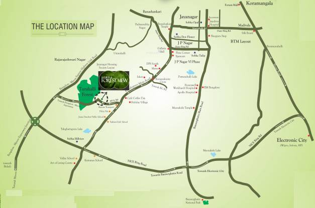 Sobha Forest View Location Plan