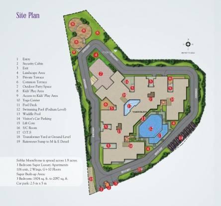 Sobha Moonstone Site Plan