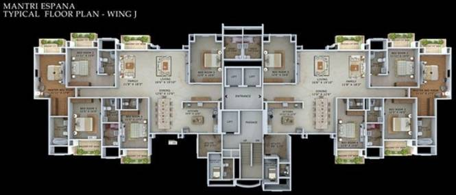 Mantri Espana Cluster Plan