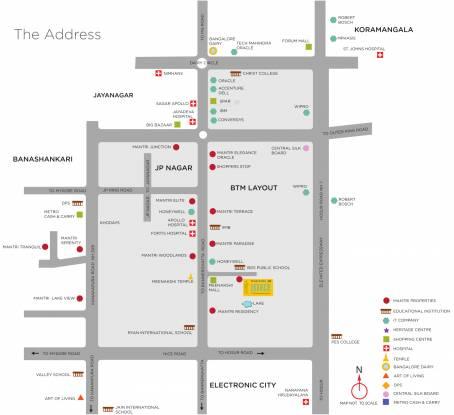 Mantri Pinnacle Location Plan