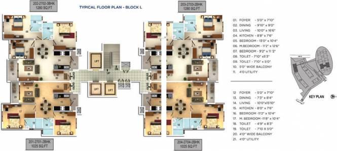 Mantri Serenity Cluster Plan