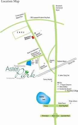 NCC Nagarjuna Aster Park Location Plan
