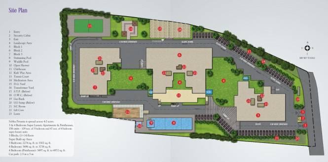 Sobha Petunia Site Plan