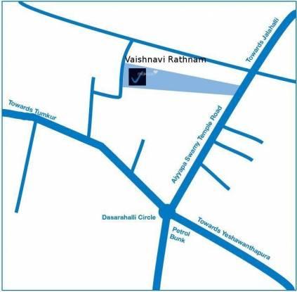 Vaishnavi Rathnam Location Plan