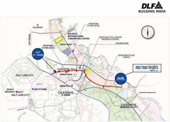 DLF New Town Heights Location Plan