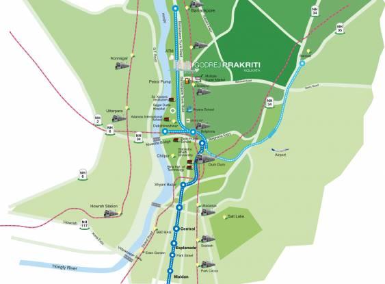 Godrej Prakriti Location Plan
