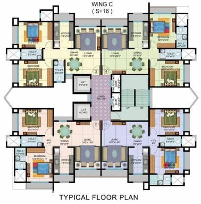 Sudarshan Sky Garden Cluster Plan