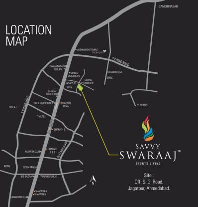 Savvy Swaraaj Sports Living Location Plan