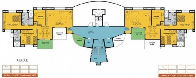 Amar Courtyards Cluster Plan