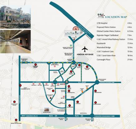 BCC Bharat City Location Plan