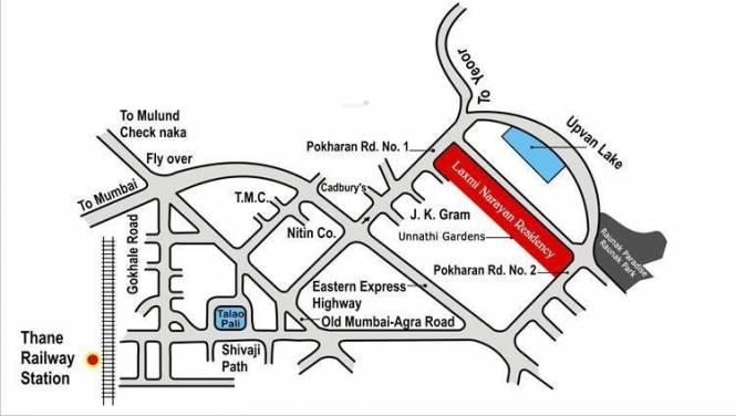 Raunak Laxmi Narayan Residency Location Plan