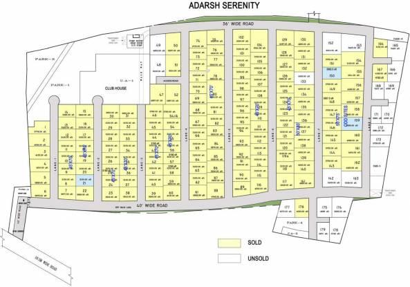 Adarsh Serenity Layout Plan