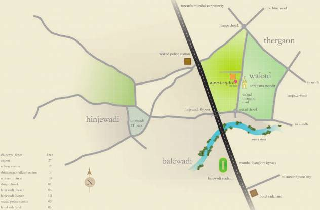 Kasturi Apostrophe Location Plan