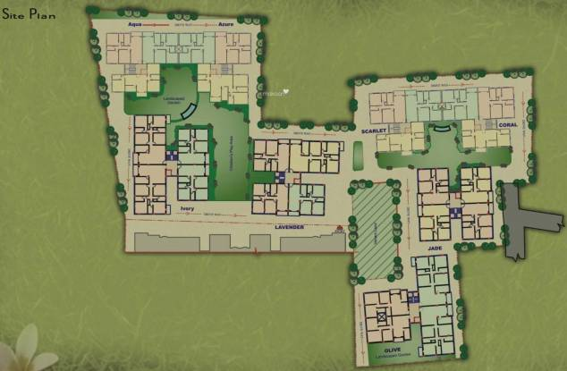 Jain Dream Residency Manor Site Plan