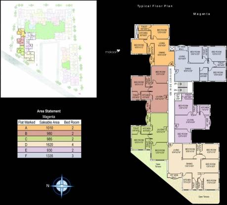 Jain Dream Residency Cluster Plan