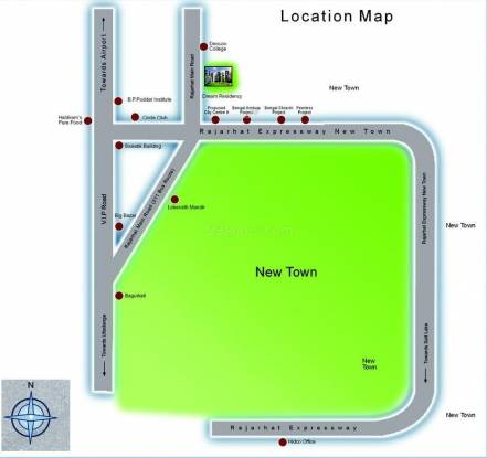 Jain Dream Residency Location Plan