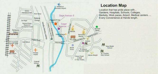 Sagar Avenue 2 Location Plan
