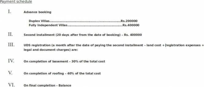 Vaikund Sundaram Payment Plan