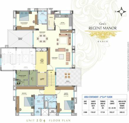 Geras Regent Manor Cluster Plan