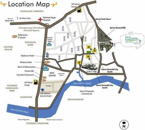 Geras Greens Ville Sky Villas Location Plan