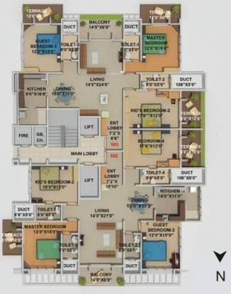 Kool Homes Blue Lotus Cluster Plan