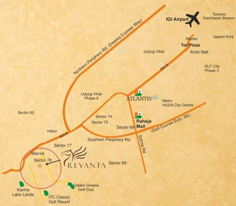 Raheja Revanta Location Plan