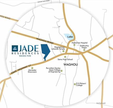 Dheeraj Jade Residences Location Plan