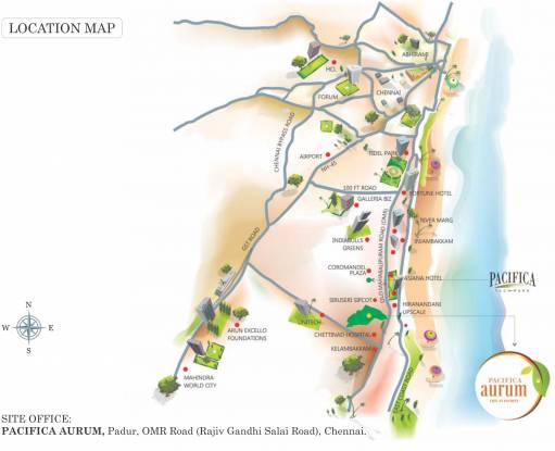 Pacifica Happiness Towers Location Plan