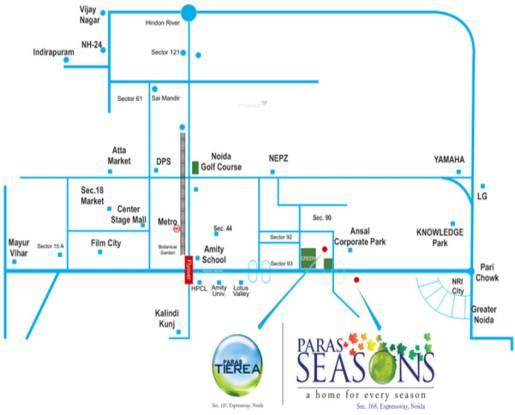 Paras Seasons Location Plan