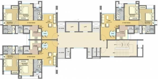 Lodha Paradise Cluster Plan