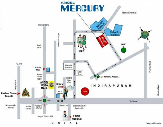 Angel Mercury Location Plan