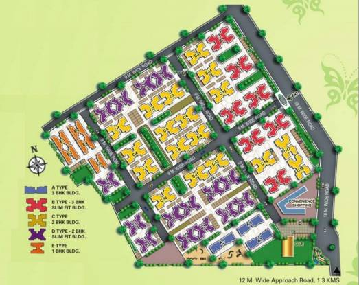 Usha Chhaya Niwas Apartments Layout Plan