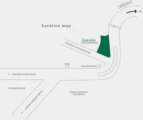 Salarpuria Sattva Luxuria Location Plan