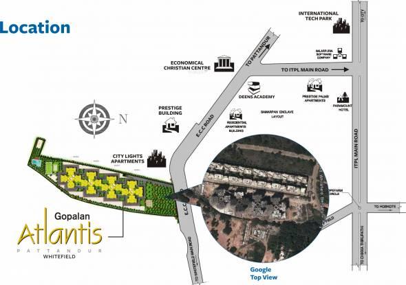 Gopalan Atlantis Location Plan