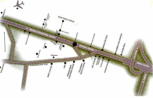 Shriram Suhaana Location Plan