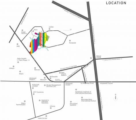 Kolte Patil Life Republic Location Plan