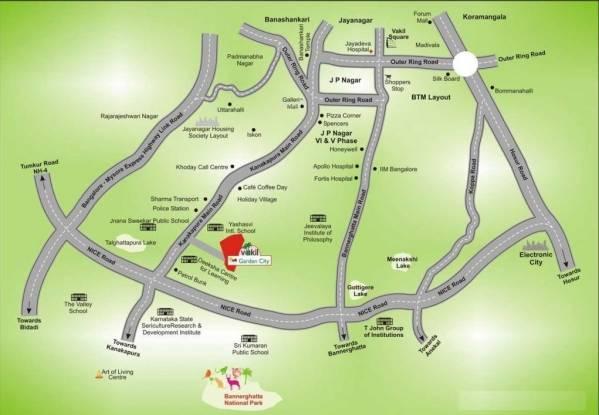 Vakil Garden City Location Plan