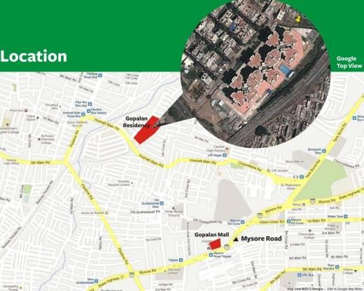 Gopalan Residency Location Plan