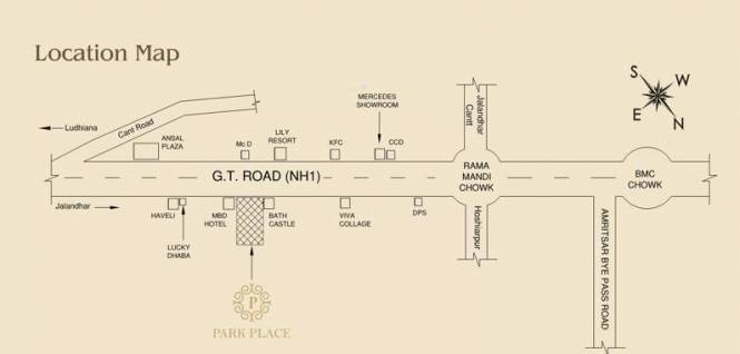 DLF Park Place Location Plan