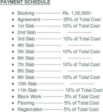 Srinivasa Sai Poorna Premier Payment Plan