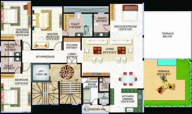 Pristine Luxor Cluster Plan