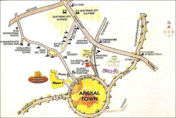 Aryan Aryan Orchid Location Plan