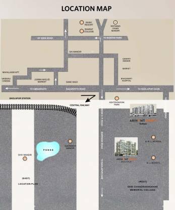 Arihant Akriti Location Plan