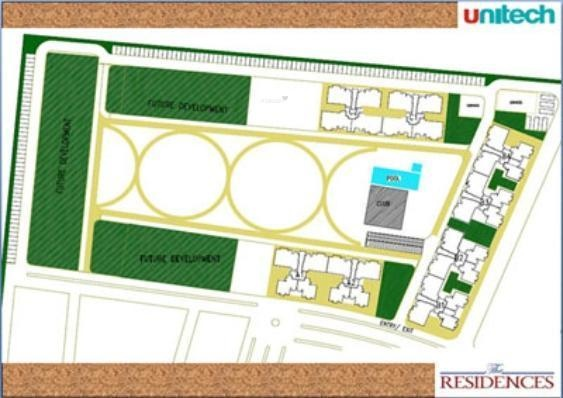 Unitech The Residences Layout Plan