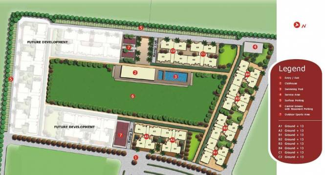 Unitech The Residences Site Plan