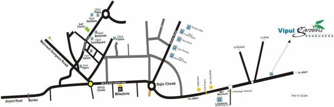 Vipul Gardens Location Plan