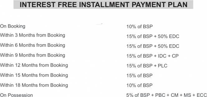 Vipul Gardens Payment Plan