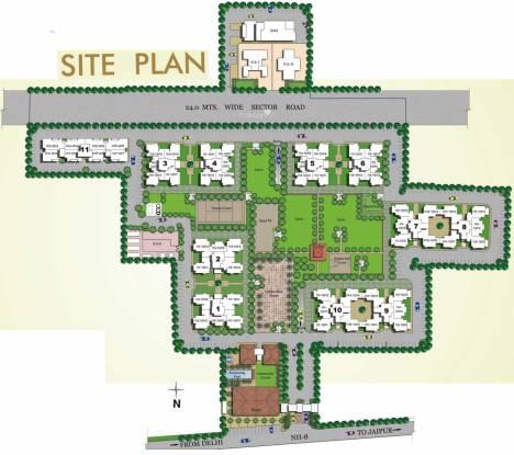 Vipul Gardens Site Plan